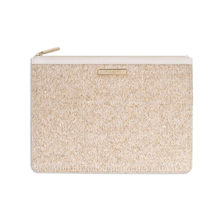 Beach Luxe Pouch | Natural Straw
