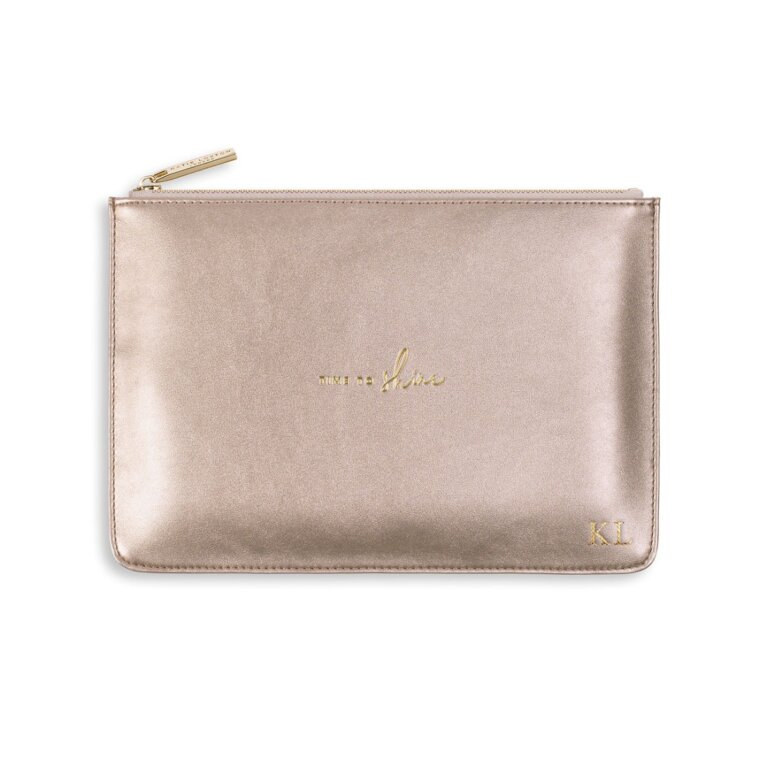 Perfect Pouch   Time To Shine   Rose Gold
