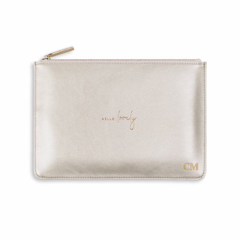 Perfect Pouch | Hello Lovely | Metallic Silver