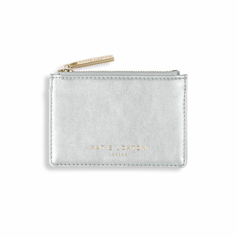Alexa Metallic Card Holder | Metallic Silver