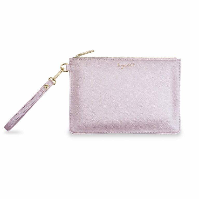 Secret Message Pouch Be-You-Tiful/Be Your Own Kind Of Beautiful Metallic Lilac