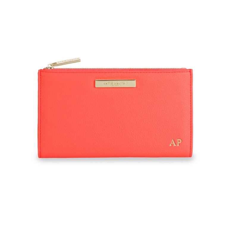 Alise Soft Pebble Fold-Out Purse In Coral