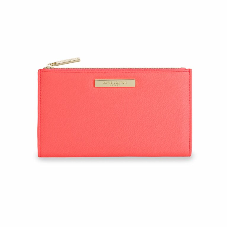 Alise Soft Pebble Fold-Out Purse | Coral