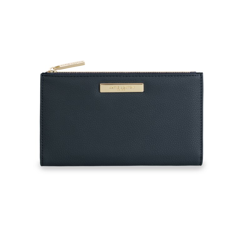Alise Soft Pebble Fold-Out Purse | Navy
