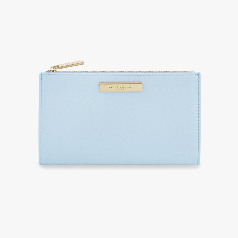 Alise Soft Pebble Fold-Out Purse | Pale Blue