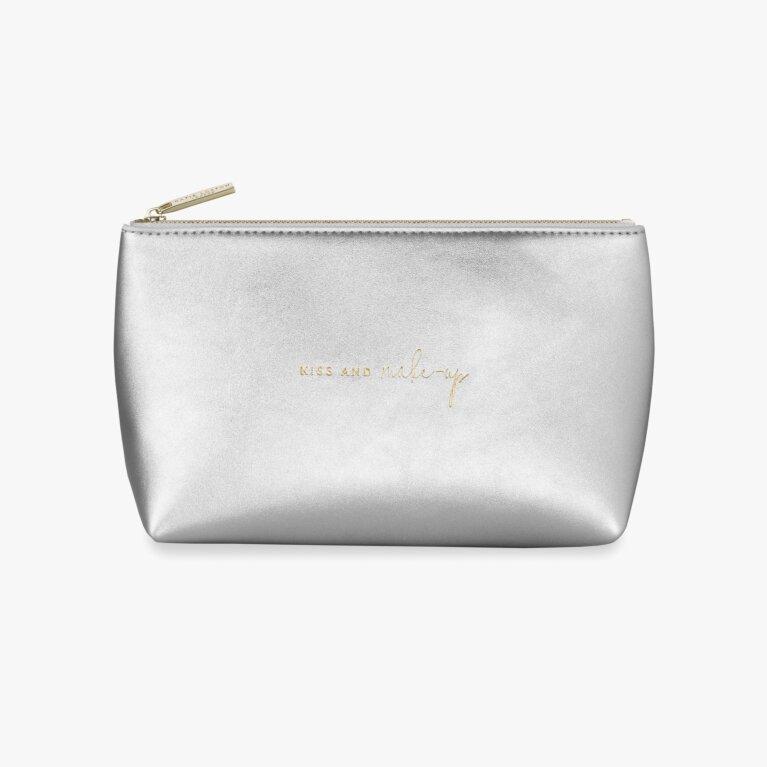 Mia Make-Up Bag | Kiss And Make-Up | Silver