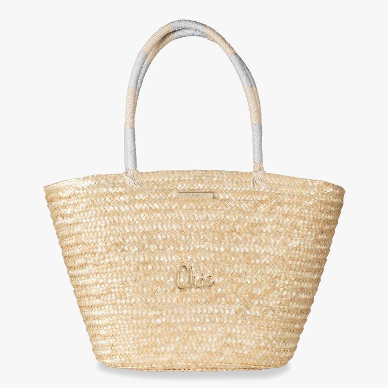 Sofia Straw Basket Bag |Chic | Natural