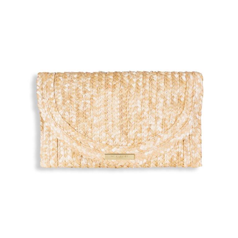 Sofia Straw Clutch Bag   Natural