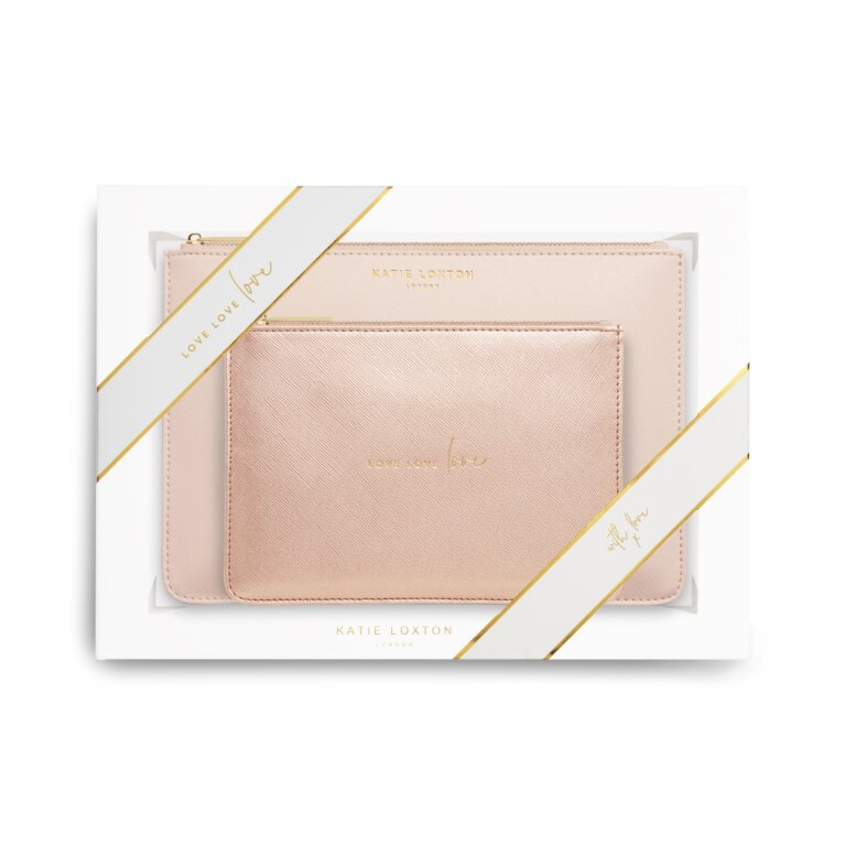 Perfect Pouch Gift Set | Love Love Love | Pink