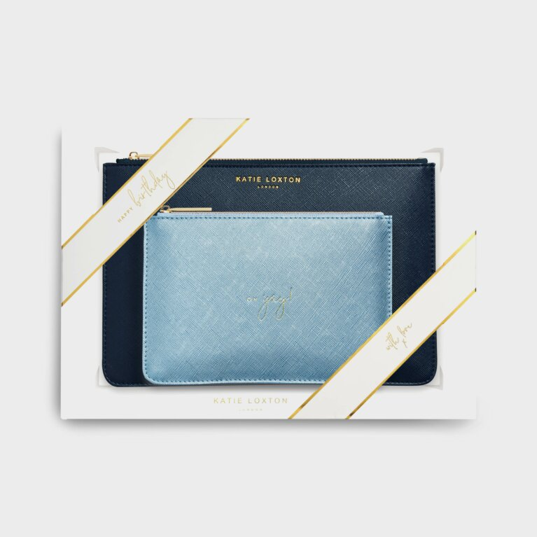 Perfect Pouch Gift Set | Happy Birthday Yay | Navy