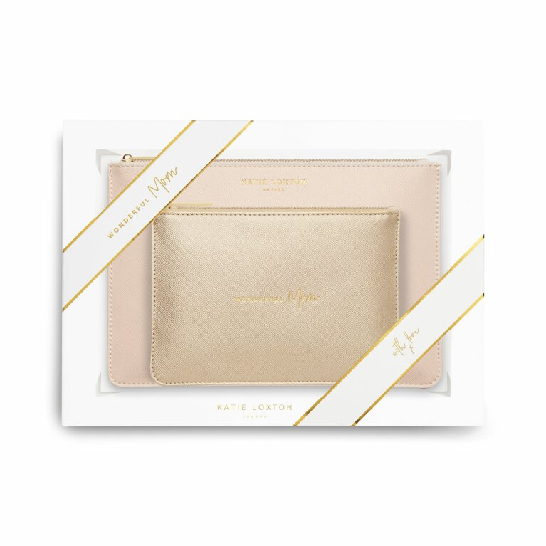 Perfect Pouch Gift Set | Wonderful Mom | Metallic Gold