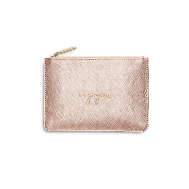 Petite Perfect Pouch | Hey Gorgeous | Metallic Rose Gold