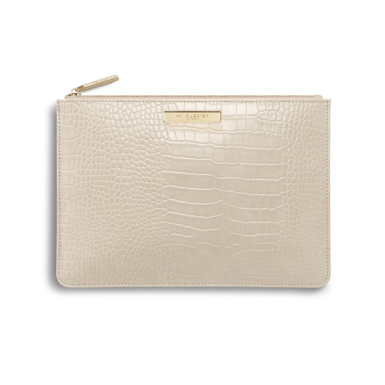 Celine Croc Perfect Pouch | Oyster