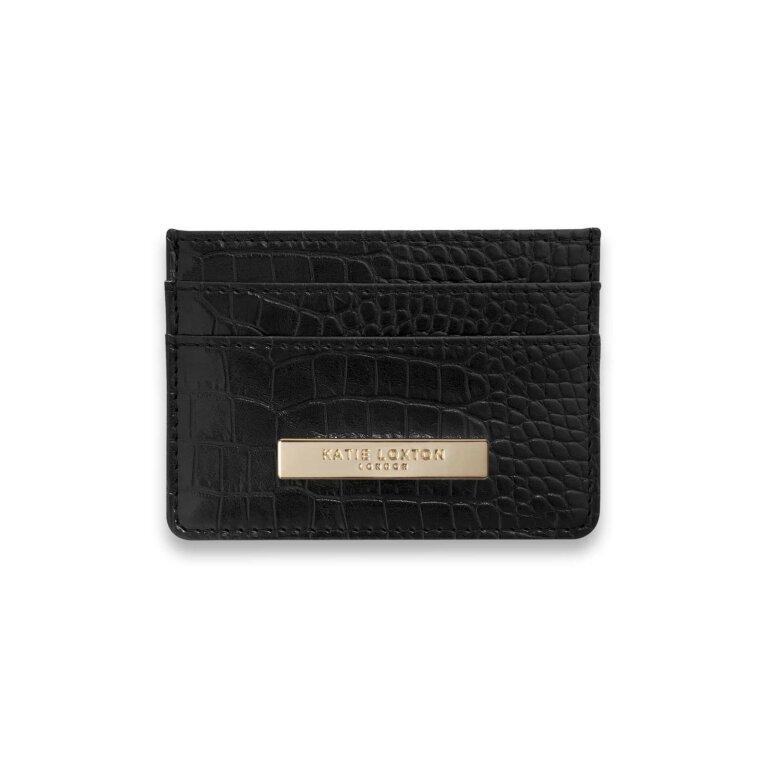Celine Croc Cardholder | Black