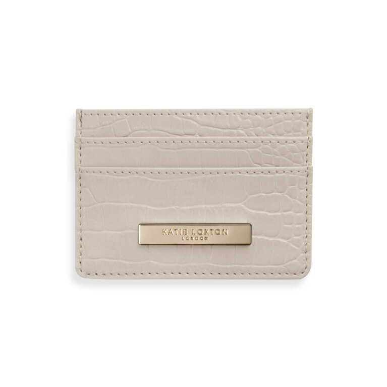 Celine Faux Croc Cardholder | Oyster