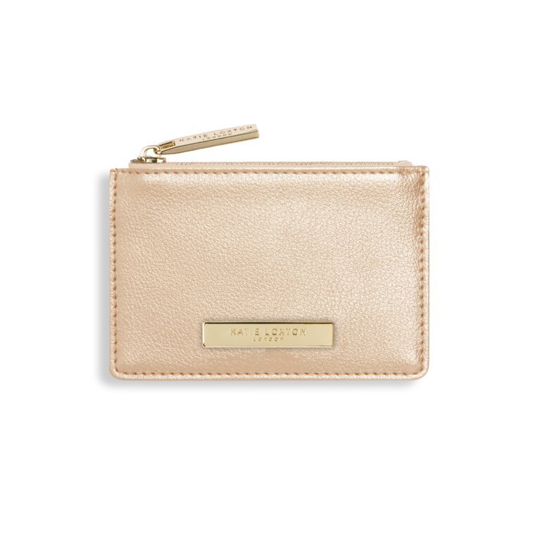 Alise Card Holder | Metallic Champagne