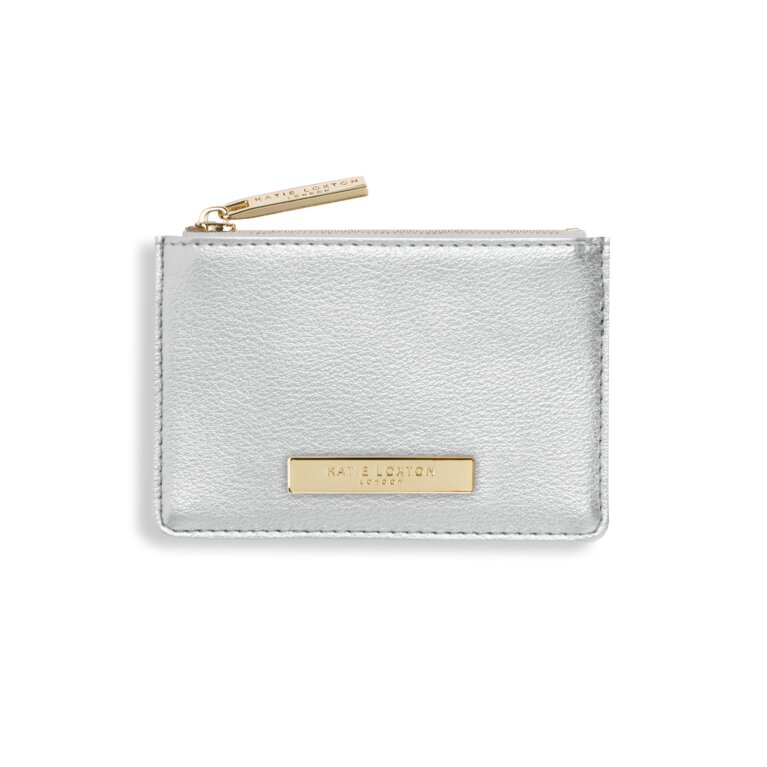 Alise Card Holder | Metallic Silver