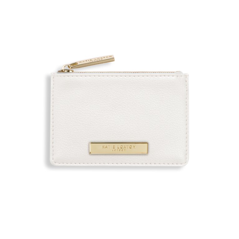 Alise Card Holder | Metallic White