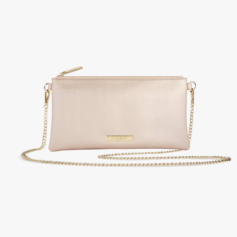 Freya Crossbody Bag | Metallic Champagne