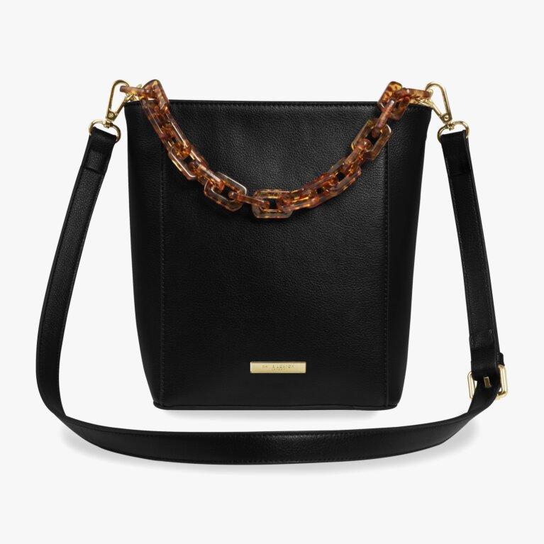 Ayla Tortoiseshell Bag | Black