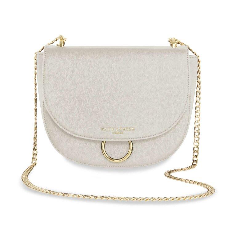 Lucia Saddle Bag | Taupe Grey