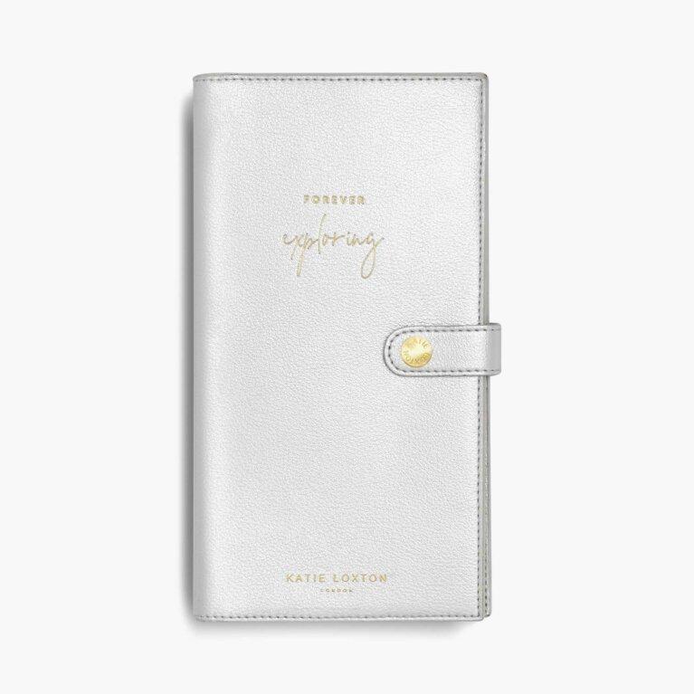 Travel Wallet | Forever Exploring | Metallic Silver