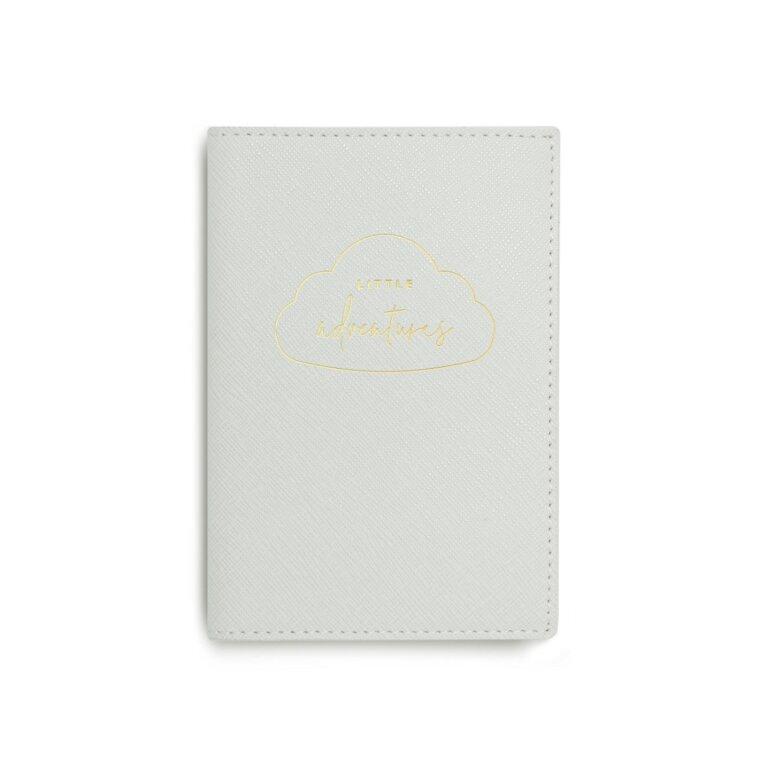 Baby Passport Holder | Little Adventures | Pale Grey