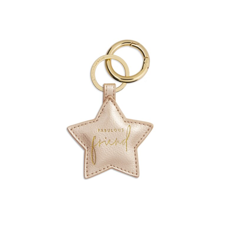 Star Keyring | Fabulous Friend | Metallic Champagne