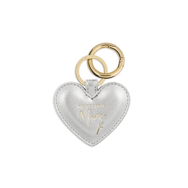Perfect Heart Keyring | Wonderful Mum | Metallic Silver