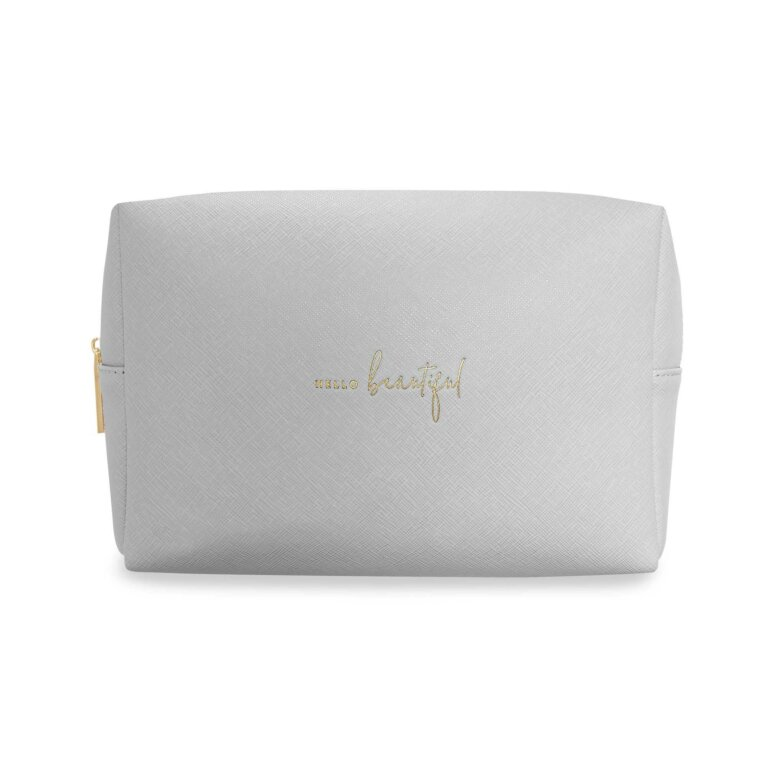 Large Wash Bag | Hello Beautiful | Pale Grey