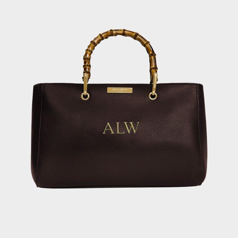 Avery Bamboo Bag In Dark Brown