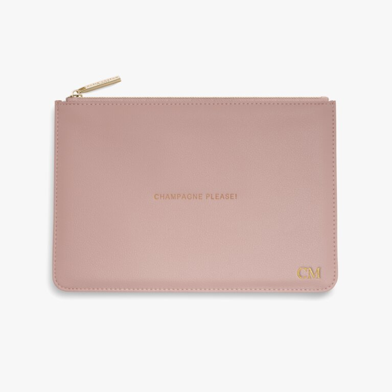 Perfect Pouch Champagne Please In Pink