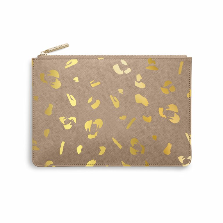 Perfect Pouch | Leopard Print | Taupe