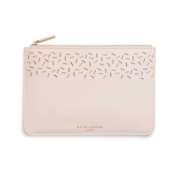 Laser Cut Perfect Pouch | Nude Pink