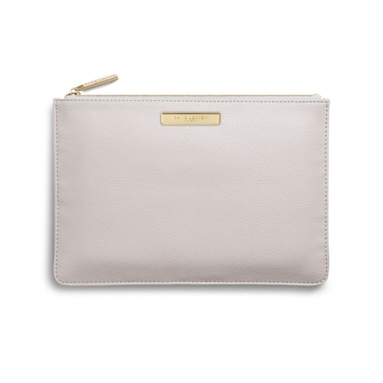 Soft Pebble Pouch | Pale Grey