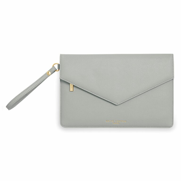 Esme Envelope Clutch Bag | Grey