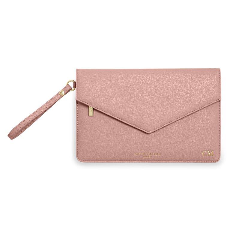 Esme Envelope Clutch Bag In Pink