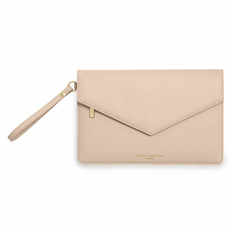 Esme Envelope Clutch Bag | Nude Pink