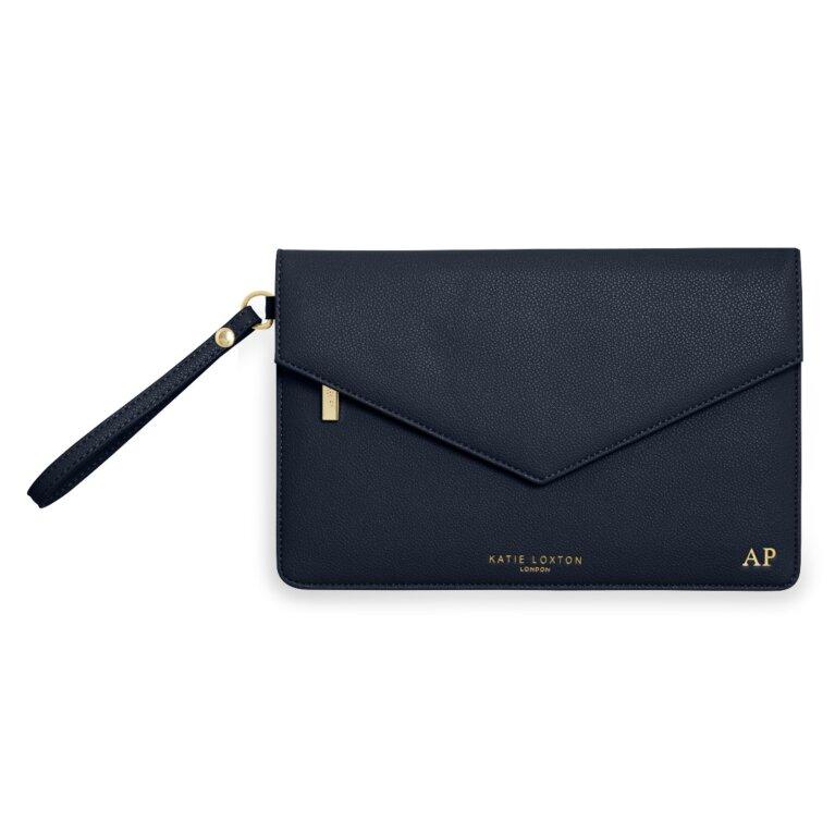 Esme Envelope Clutch Bag | Navy