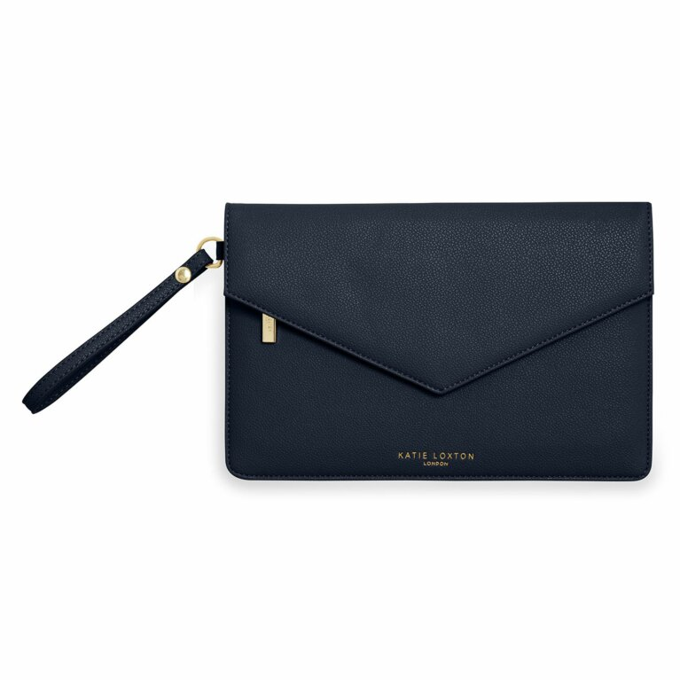 Esme Envelope Clutch Bag | Navy