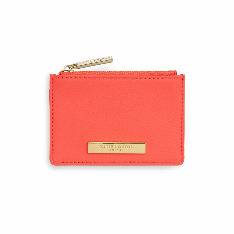 Card Holder Coin Purse | Coral