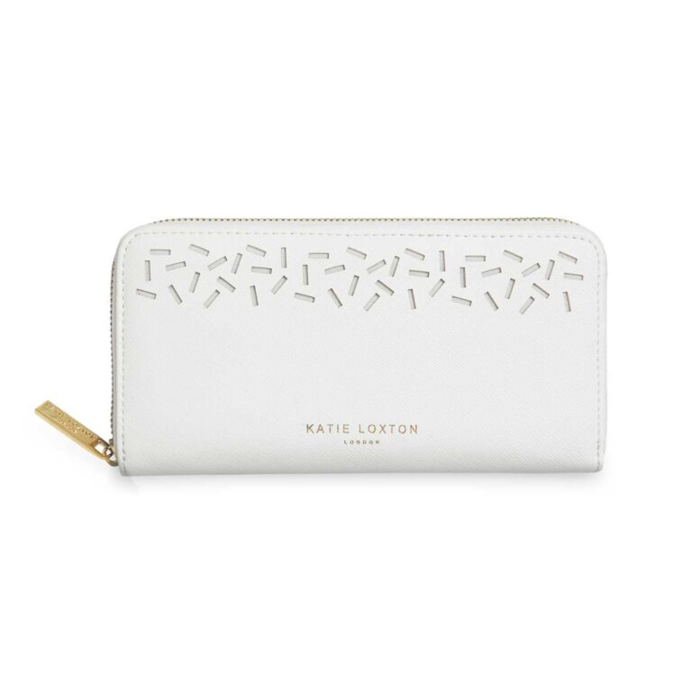 Laser Cut Purse | White
