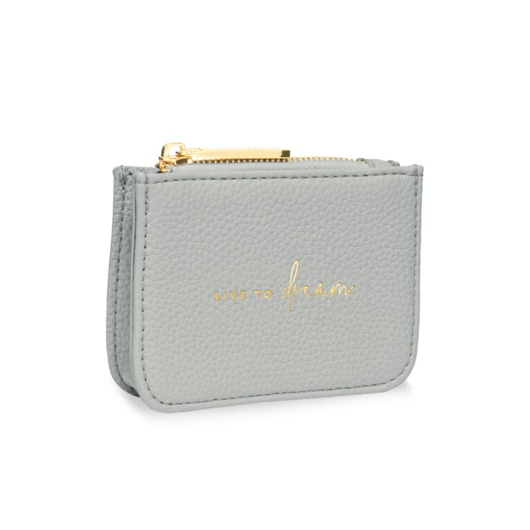 Stylish Structured Coin Purse Live To Dream