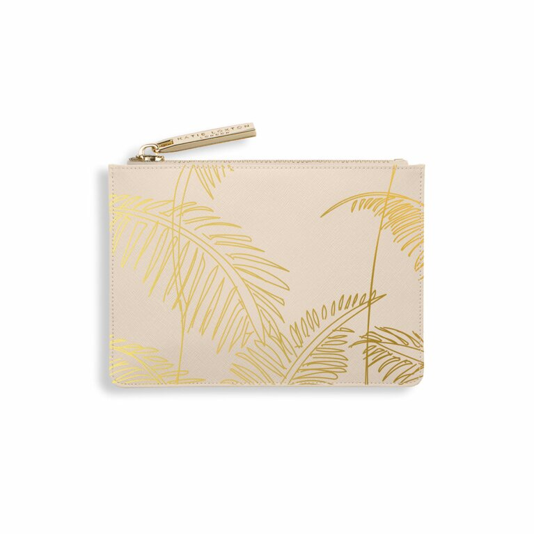 Palm Print Card Holder | Nude Pink