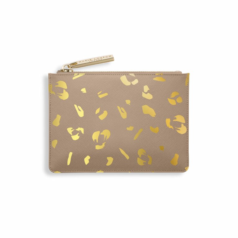 Leopard Print Card Holder | Taupe