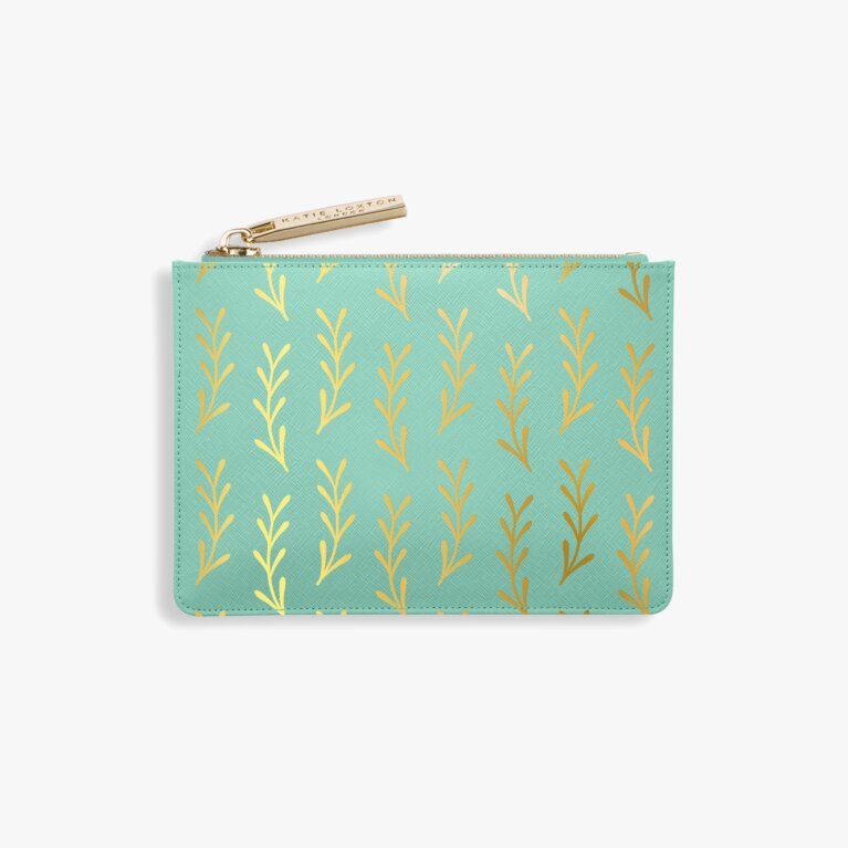Leaf Print Card Holder | Seafoam Green