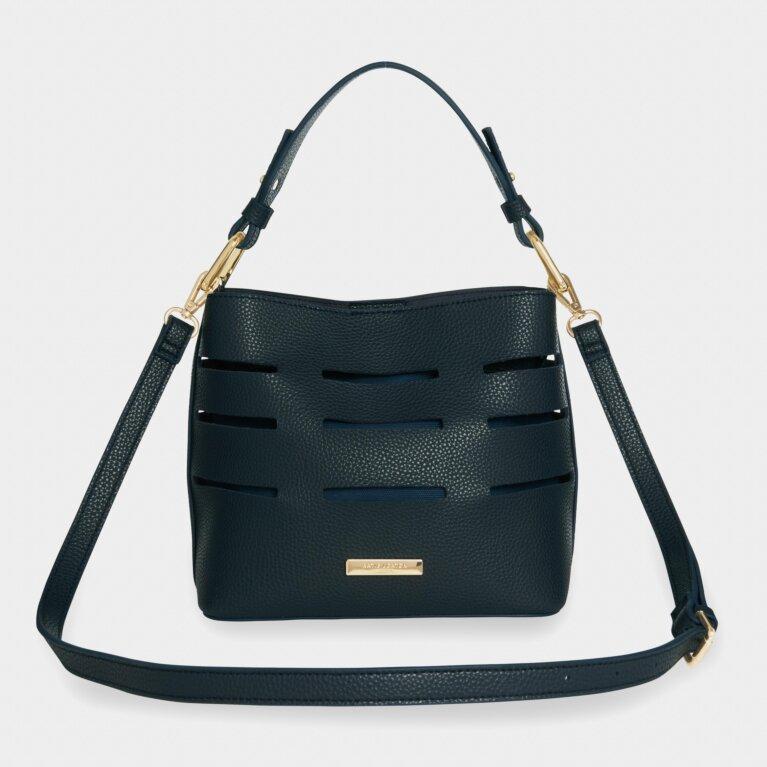 Alani Laser Cut Shoulder Bag | Navy