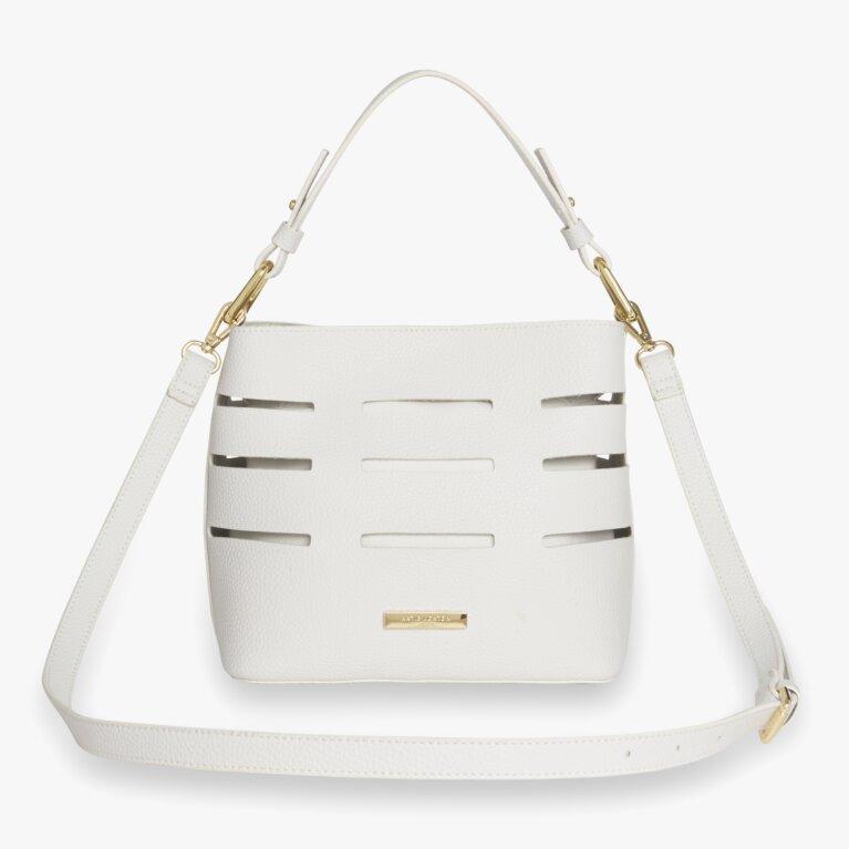Alani Laser Cut Shoulder Bag   White