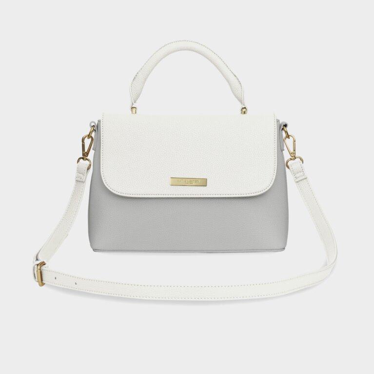 Talia Two Tone Messenger Bag | White And Pale Grey