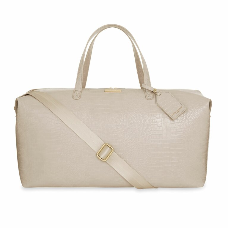 Celine Faux Croc Weekend Holdall Bag | Oyster Grey